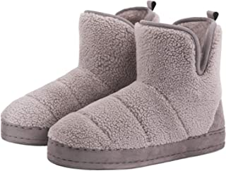 FamilyFairy Women's Warm Bootie Slippers Comfy Faux Fur Snug Memory Foam Boots House Shoes