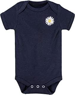 Unisex Baby Boys Girls Unique Daisy Graphic Short-Sleeve Onesies Bodysuit | Funny Baby Outfits