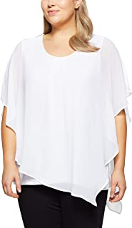 My Size Women's Plus Size Celestial Floaty Top, Black