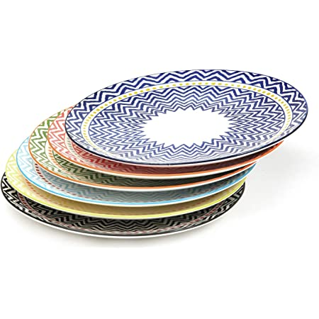 Bloomingville 6.25 Bread /& Butter Plates Carla Set of 4 Styles stoneware