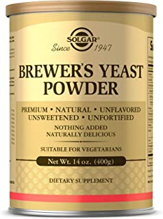 Solgar Brewer's Yeast Powder, 14 oz - Rich Source of Amino Acids, B-Complex Vitamins, Minerals, & Protein - Natural, Unfla...