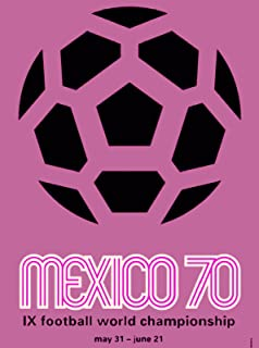 A SLICE IN TIME 1970 Championship Soccer Football Mexico Mexican Latin America Vintage Travel Advertisement Art Poster Print. Measures 10 x 13.5 inches