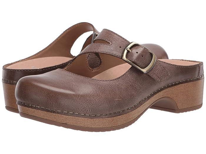 70s Shoes, Platforms, Boots, Heels Dansko Britney Stone Waxy Burnished Womens Shoes $134.95 AT vintagedancer.com