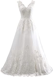 ChongXiao Women`s Wedding Dresses for Bride 2020 with Sleeves Lace Ball Gown Wedding Dress