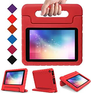 LTROP All-New Fire 7 (2017 Release) Case for Kids, Light Weight EVA Shock Proof Handle Kid-Proof Case for Fire 7 inch Display Tablet 7th Generation - Red