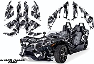AMR Racing Graphics Polaris Slingshot SL 2015-2016 Vinyl Wrap Full Kit - Special Forces Camo Grey