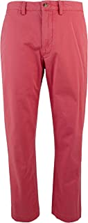 Men's Straight-Fit Flat-Front Stretch Twill Chino Pants-NR-34WX30L