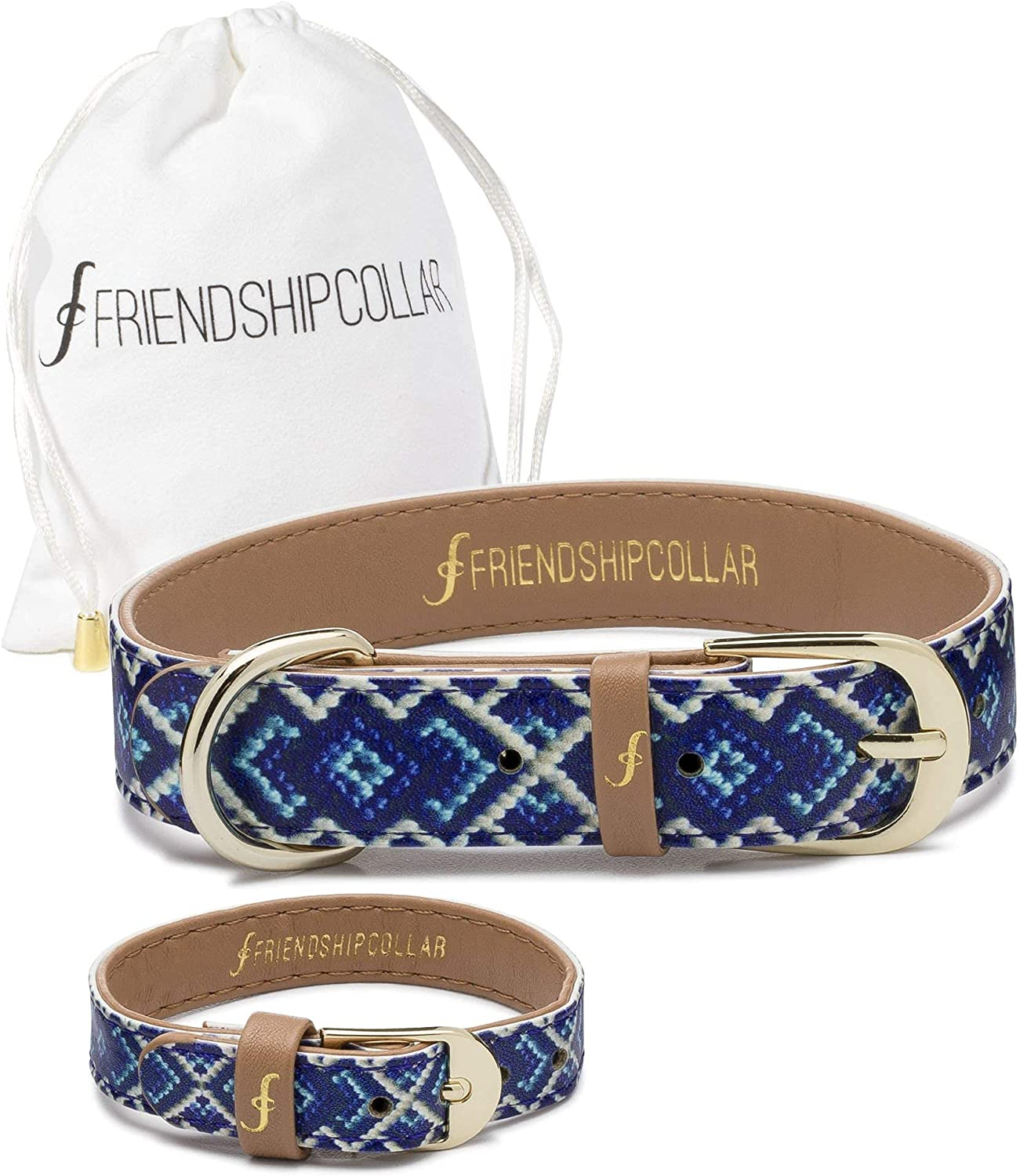 FriendshipCollar Dog or Cat Collar and T Set Bracelet Matching - Challenge the lowest price El Paso Mall