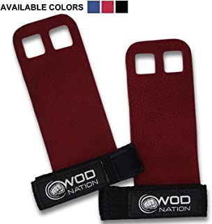 WOD Nation Leather Barbell Gymnastics Grips Perfect for Pull-up Training, Kettlebells,..