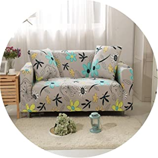 Gray Yellow Spots Messy Elastic Sofa Cover for Living Room Sofa Slipcovers,5,1Pc Cushion Covers