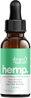 Hemp Oil Drops - 100% Premium Natural Ingredients - Anti-inflammatory, Anxiety Relief, Helps with Sleep, Skin & Hair - 1 Fl Oz