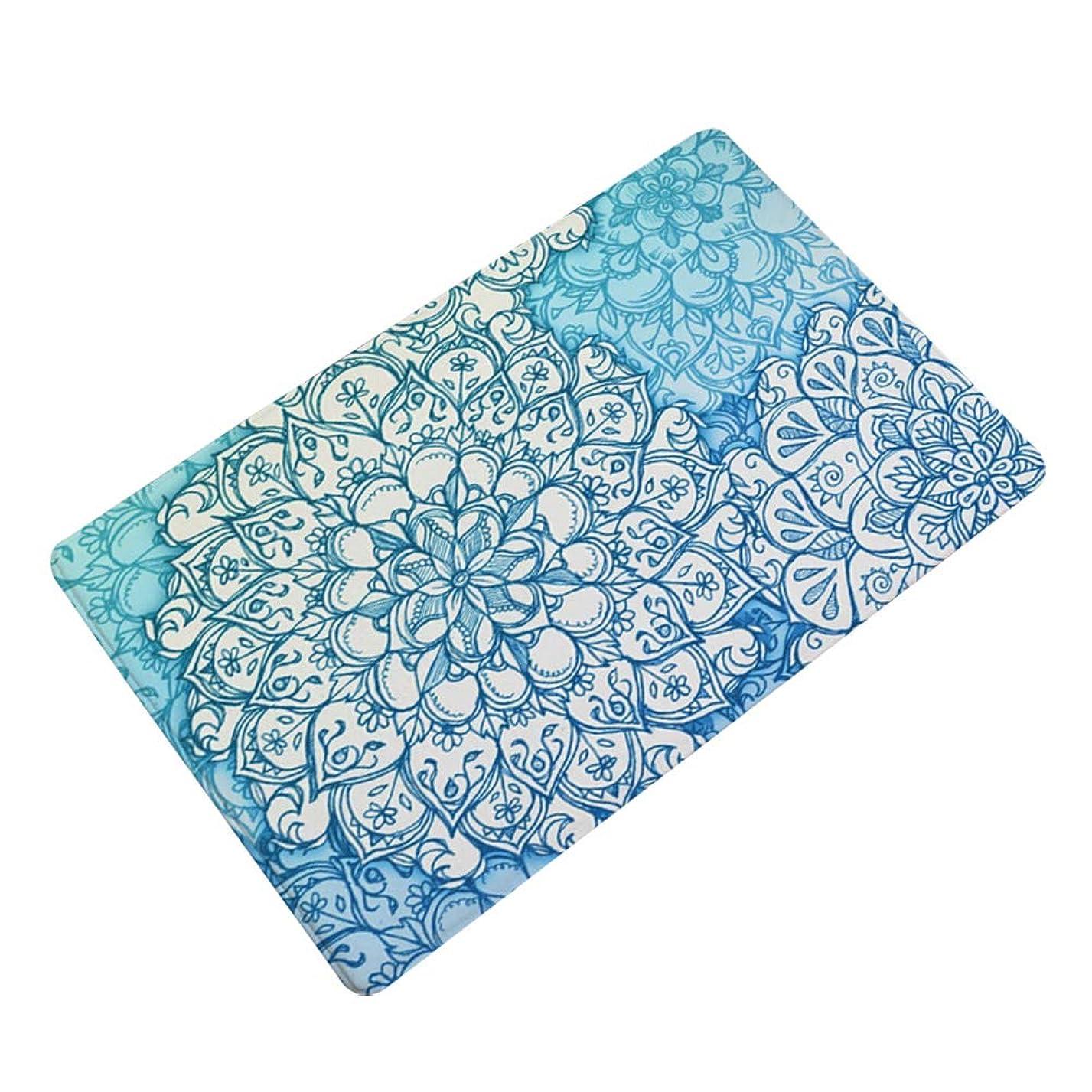 魅力的スチュアート島美的Tothoate バスマット 風呂マット 幾何学の花 吸水 滑り止めマット 50x80cm 足ふきマット 抗菌 おしゃれ 丸洗い 強力吸水 抗菌防臭