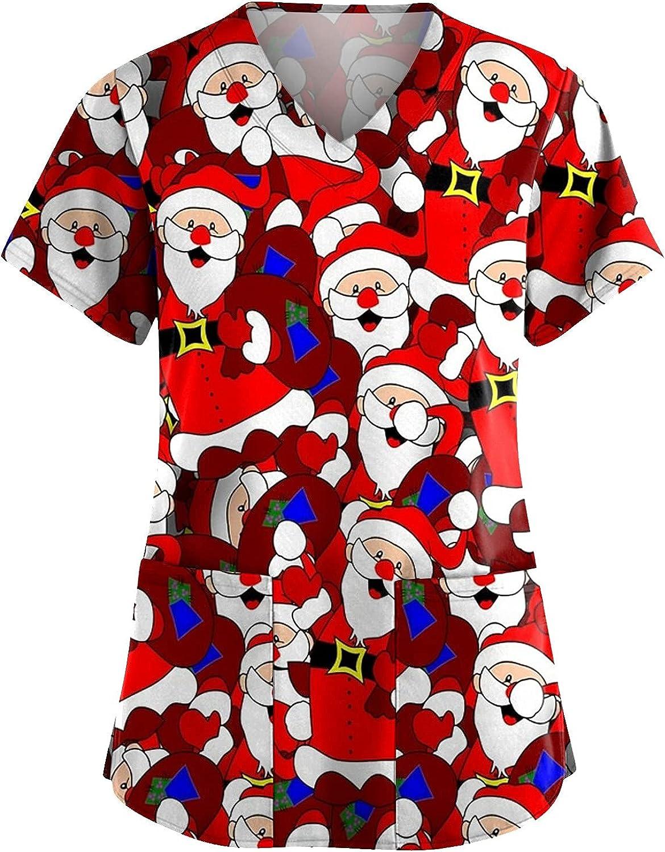 Women's Workwear Christmas Nursing Jacksonville Mall Print T Working Washington Mall Wom for Shirt