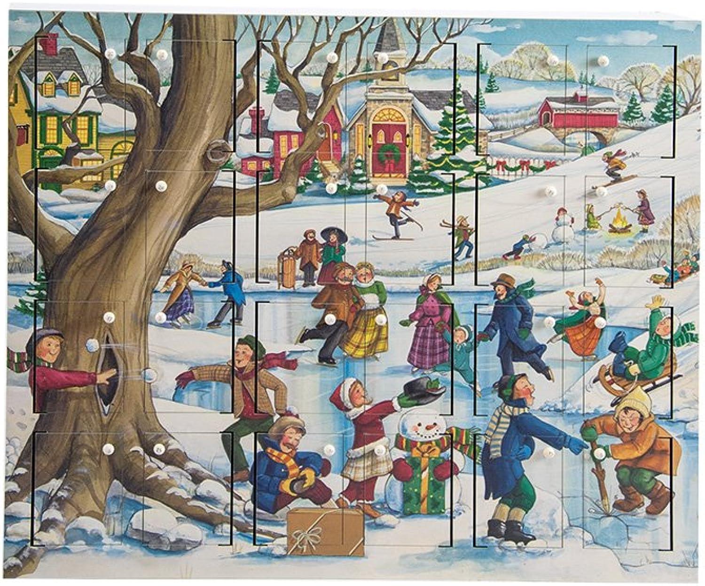 Byers' Choice Winter Fun Wooden Advent Calendar  AC20