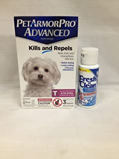 Pet Armor Pro Advanced Toy (4-10.9 lbs) 3 Pack Plus 1 Container Fresh N Clean Oxy Odor/Stain Remove Remover 2OZ