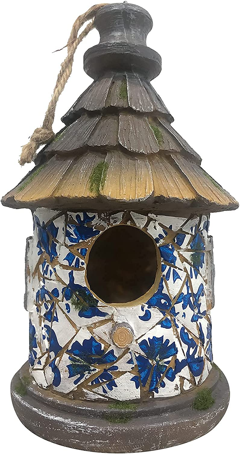 OUSHUAI Natural Birdhouses Fees free!! Hanging with Guard Prdator Wooden Bir Max 61% OFF
