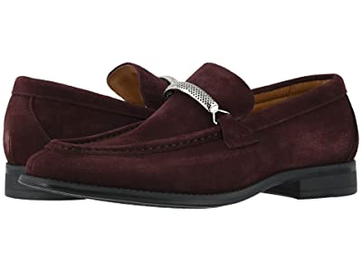 Stacy Adams Pasqual Moc Toe Bit Slip-On (Oxblood Suede) Men