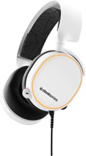 SteelSeries Arctis 5 Gaming Headset - RGB Illumination - DTS Headphone: X v2.0 Surround for PC and PlayStation 5, PS4 - White