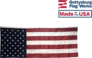 Gettysburg Flag Works 8x3' American Patriotic Pulldown - Stars and Stripes - Durable All Weather Nylon - Proudly Made in The USA