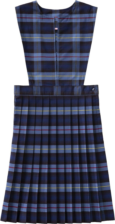 Classroom School Uniform Slit Front Girls Regular Dress 5PC4721A, 5, Navy