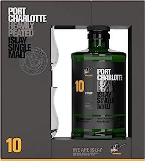 Bruichladdich Port Charlotte Heavily Peated Whisky 10 Jahre 0,7l  2 Gläser