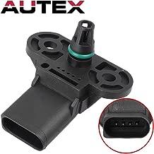 AUTEX 3C906051 AS367 Manifold Absolute Pressure (MAP) Sensor compatible with AUDI A6 & A7 & A8 QUATTRO & Q5 13-14/Audi Q7 2011/Audi S4 & S5 10-11 13-14, replacement for VOLKSWAGEN GOLF 13-14 L4 2.0L