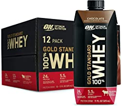 Optimum Nutrition Gold Standard 100 Whey Protein Shake Ready to Drink Gluten Free 24g Protein Count, Chocolate, 132 Fl Oz