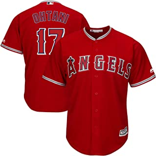 Outerstuff Shohei Ohtani Los Angeles Angels MLB Majestic Youth Scarlet Red Alternate Cool Base Player Jersey