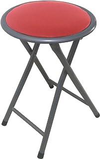 Lemon rojo Taburete plegable metal asiento skai,para cocina, baño, balcón, habitación juvenil. 1 unidad