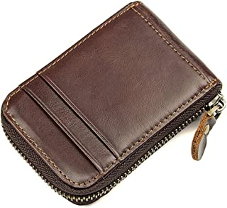 Card Holder for Men Leather RFID Blocking Card Case Accordion Wallet for Women By Fmeida