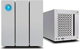 LaCie 莱斯2big Quadra(2x 4TB)Dual FireWire 800 + USB 3.0专业2盘位移动硬盘,7200RPM 桌面 RAID,适用于PC和MAC