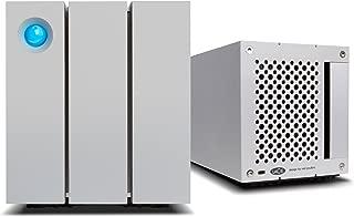 LaCie 2big Thunderbolt 2 RAID 16TB External Hard Drive Desktop HDD – USB 3.0 7200 RPM Enterprise Class Drives, for Mac and PC Desktop Data Redundancy (STEY16000400)