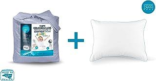 STEFANO ZANNI Protector Junior Water Proof Infantil Impermeable + Almohada Algodón Junior de Regalo (Individual)
