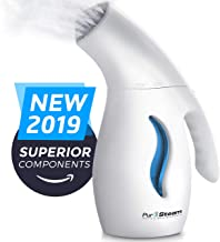 PurSteam Garment Steamer For Clothes, Elite Powerful 7-1 Fabric Steamer For Home/Travel. Remove Wrinkles/Steam/Soften/Clean/Sanitize/Sterilize and Defrost with UltraFast-Heat Aluminum Heating Element