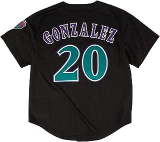 Luis Gonzalez Arizona Diamondbacks MLB Mitchell &Ness Men's Black 1999 Authentic Throwback Batting Practice Jersey (48)