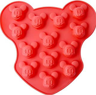 Chawoorim 16 Cavity Small Mickey Mouse Silicone Mold DIY Candy Chocolate Sugar Craft Fondant Ice Tray