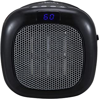HUNTER 750W Wall Mount Space Heater with Remote Control-12 Hour Timer, Two Heat Settings, Digital Display, Adjustable Thermostat, Black