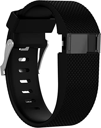 sunyfeely Newest Replacement Bands for Charge HR, Silicone Small Large Band Bracelet Strap for Charge HR Wireless Activity Wristband