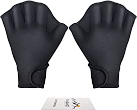 Tagvo Aquatic Gloves for Helping Upper Body Resistance, Webbed Swim Gloves Well Stitching, No Fading, Sizes for Men Women Adult Children Aquatic Fitness Water Resistance Training