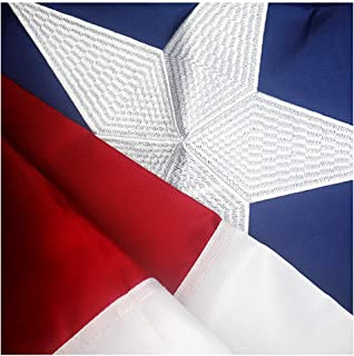 VSVO Texas Flag 3x5 ft - Durable 240D Nylon Outdoor TX Flags- UV Protected, Embroidered Stars, Sewn Stripes, Brass Grommets Outside US Flags.