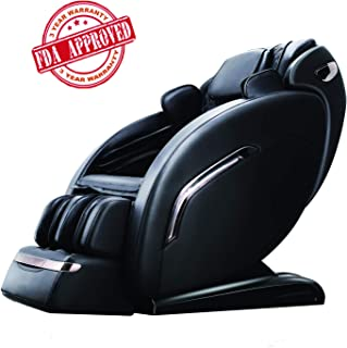 OOTORI Zero Gravity Massage Chair Recliner 3D Full Body Air Massage Chair with Yoga Stretching, SL Track, Bluetooth Speaker,LED Light Heat&Foot Roller(Black)