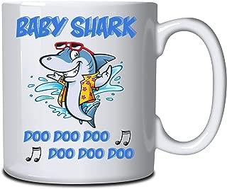 Baby Shark Personalised Mug Mummy Daddy Shark DooDoo Printed Both Sides Any Name