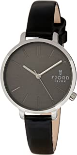 FJORD Women's FJ-6051-02 Analog Quartz Black Watch