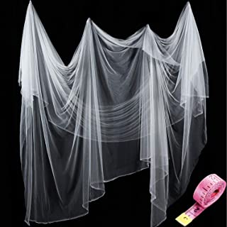 Zonon Bug Insect Mosquito Fly Bird Net Barrier Hunting Blind Plant Protecting Garden Netting (White, 3 m x 10 m)
