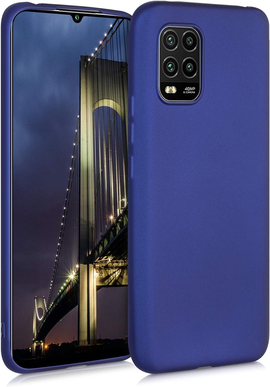 kwmobile Carcasa Compatible con Xiaomi Mi 10 Lite (5G) - Funda de Silicona para móvil - Cover Trasero en Azul Metalizado