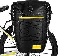 Gonex Alforjas de bicicleta a prueba de agua bolsa de bicicleta Alforja trasera Rack 27L para ciclismo bicicleta viajes equitación