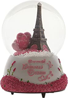 Eiffel Tower Music Box Snow Globes in Paris, France Lovely Home Cafe Decor Gifts