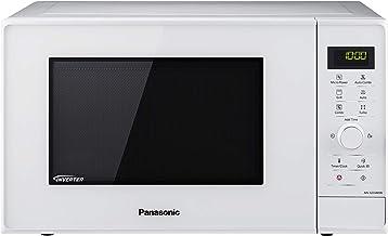 Panasonic NN-GD34HWSUG - Microondas con Grill (1000 W, 23 L, 6 niveles, Grill Cuarzo 1100 W, Plato Giratorio 285 mm, Control tácti L, 13 modos, Turbo Defrost, tecnología Inverter) Blanco