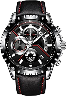 LIGE 9838 Men's Watches Commercial Sports Leisure Fashion Waterproof Quartz Watch