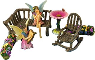 PRETMANNS Fairy Garden Fairies – Accessories & Miniature Garden Furniture - Fairy Garden Supplies - 7 Pieces